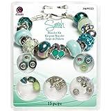 Cousin 15-Piece Hole Bracelet Kit, Large, Sarah