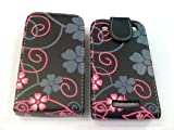 FOR BLACKBERRY 9360 9350 9370 FLORAL FLOWER TOP FLIP PU LEATHER CASE COVER POUCH