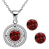 3.64 Ct Round Natural Red Garn Pict