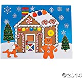 "12 Large MAKE a GINGERBREAD HOUSE Sticker Sheets/Christmas CRAFT/ACTIVITY/8.5"" X 11"""