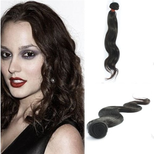 "Yesurprise Top Quality 22"" Body Wavy 100% Virgin Remy Human Hair Weave Weft Natural Black 100G"