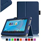 "Fintie Chromo 7"" Tablet Folio Case Cover - Premium Leather With Stylus Holder for Chromo Inc 7 Inch Android Tablet (Front Camera Version Only) - Navy"