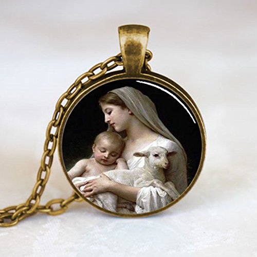 nativity-virgin-mary-pendant-christmas-pendant-religious-necklace-bronze-pd0536br