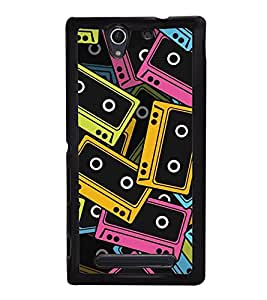 Audio Cassettes Tapes Back Case Cover for SONY XPERIA C4