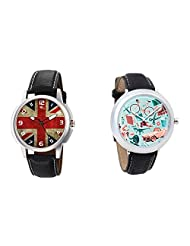 Gledati Men's Multicolor Dial And Foster's Women's Blue Dial Analog Watch Combo_ADCOMB0001889