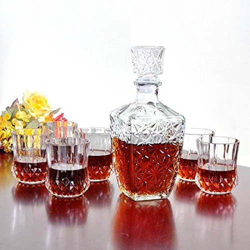 Whiskey Wine Drinking Glass Decanter Wine Crystal Bottle Carafe