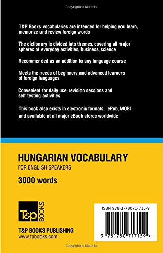 Hungarian Vocabulary for English Speakers - 3000 Words