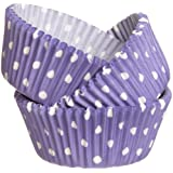 Wilton Purple Dots Baking Cups, 75-Count