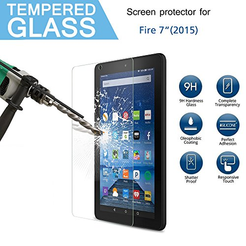 Cooper GTV Resist Tempered Glass Screen Protector for Amazon Fire 7-inch Tablet(5th Generation)