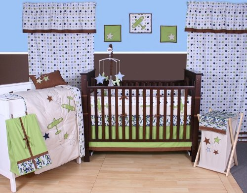Camo Air 10 pc Crib Set Bumper free - 1