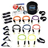 Bodylastics 21 pcs Resistance Bands Set *STRONG MAN XT with 8 Stackable anti-snap exercise tubes, Heavy Duty components, carrying case, and FREE 6 month access to over 2000 full length resistance bands workout videos from Pilates to MMA
