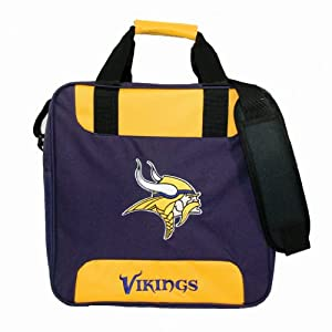 NFL Single Bowling Bag- Minnesota Vikings by KR Strikeforce Bowling Bags