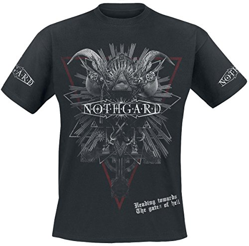 Nothgard Gates Of Hell T-Shirt nero XXL