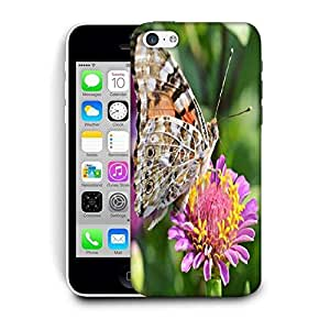 Snoogg Multicolor Butterfly In Pink Flower Printed Protective Phone Back Case Cover For Apple Iphone 6 / 6S