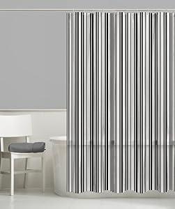 vertical striped shower curtain