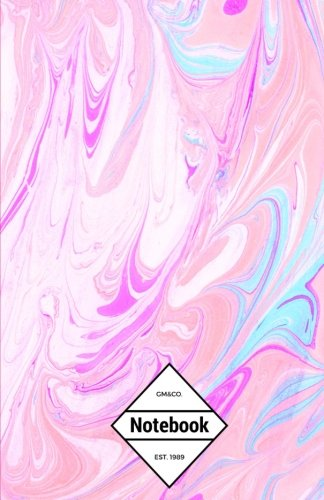 gmco-notebook-journal-dot-grid-lined-graph-120-pages-55x85-pink-marble-watercolor-texture-volume-2-m