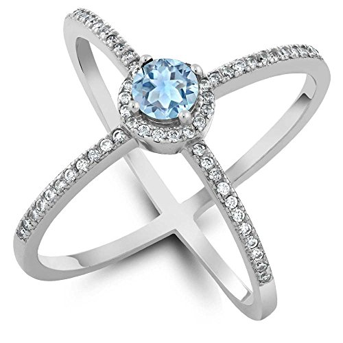 127-ct-round-natural-sky-blue-aquamarine-925-sterling-silver-womens-criss-cross-x-ring-available-in-