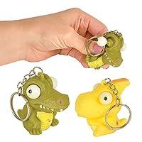(12 pc) Dinosaur Bulgy Eye Key Chains