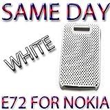 BRAND HYBRID PLASTIC BACK COVER PROTECTOR FOR NOKIA E72 White