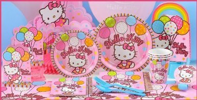Toy / Game Cute Hello Kitty Party Supplies Tableware For 16 Guests - Great For A Birthday Parties (Ages 6+)