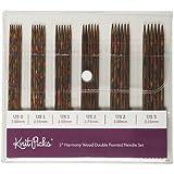"""Knit Picks 6"""" Rainbow Wood Double Pointed Knitting Needle Set"""