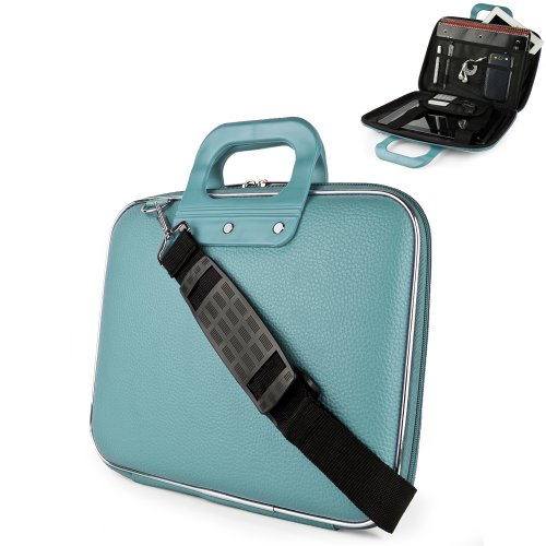 Blue Cady Cube Ultra Durable 10 inch Tactical Hard Messenger bag for your Samsung Galaxy Note 10.1 Inch Tablet with Extra Features: Reinforced durable constructions, Extra dividers and mesh pockets for other Tablets, eReaders, pens, papers, and other school supplies, and Secure Velcro Straps