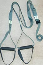 "WOSS Gear, NEW with FOOT LOOPS - Suspension Trainer, 1-1/2"" Gunmetal Gray US Military Webbing, Made in USA using USA Manufactured Parts"