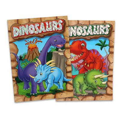 2 Pack Assorted Embossed & Foil Dinosaurs Coloring Books - 1