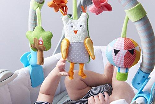 taf toys musical arch owl stroller pram and car seat activity bar epic kids toys. Black Bedroom Furniture Sets. Home Design Ideas