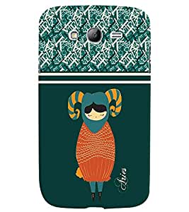 Fuson 3D Printed Sunsign Aries Designer back case cover for Samsung Galaxy Grand Neo I9060 - D4408