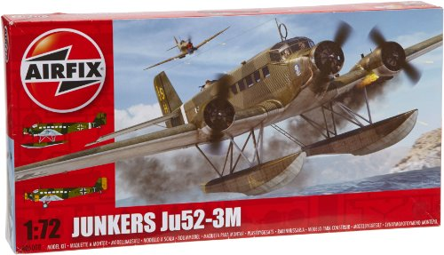 Airfix A05008 Junkers Ju52-3M Model Building Kit, 1:72 Scale front-1007378