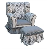 Angel Song Black Toile Wingback Girl's Chair