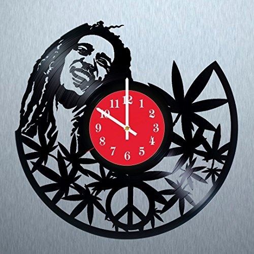 Bob-Marley-Mellow-Mood-Vinyl-Record-Wall-Clock-Get-unique-home-office-wall-decor-Gift-ideas-for-boys-men-and-girls-Reggae-Music-Unique-Art-Leave-us-a-feedback-and-win-your-custom-clock