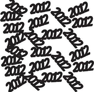 2012 Black Printed Confetti