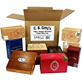 10pc. lot Empty Wooden Cigar Boxes - Smaller-size boxes great for use as Wedding Favors, Banks, Purses, Clocks & More!