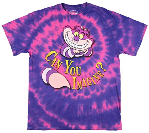 Alice in Wonderland Cheshire Cat Can You Imagine? Graphic T-Shirt (XXX-Large) (Cat On Alice And Wonderland)