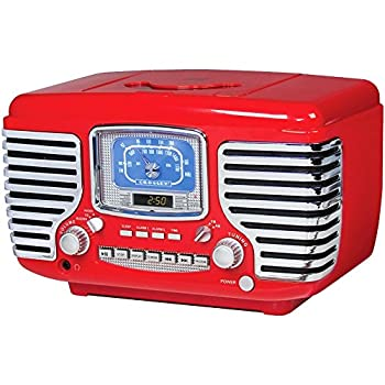Crosley Corsair Red Alarm Radio and CD Player