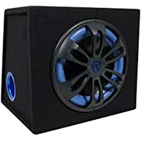 Rockville RVB12.1A 12 Inch 500W Active Powered Car Subwoofer with Sub Enclosure Box (Black)