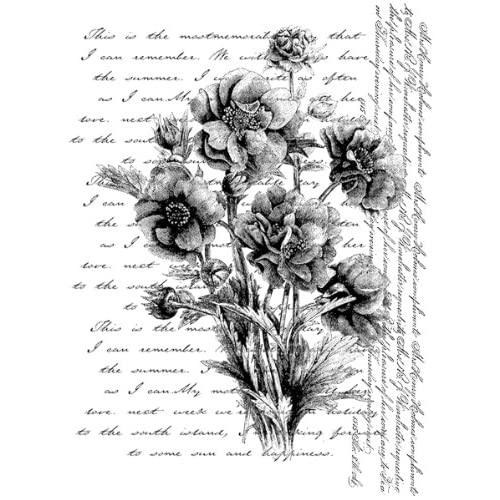 Penny Black Rubber Stamp 3.5X4.5 Words Like Flowers