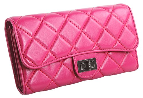 lh-saierlongr-womens-trifold-wallet-rose-red-sheepskin-wallets