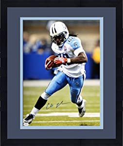Framed Cris Johnson Signed Tennessee Titans Photo - 16x20 - JSA Certified -... by Sports Memorabilia
