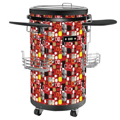 Single Zone Party Cooler Color: Red front-22782