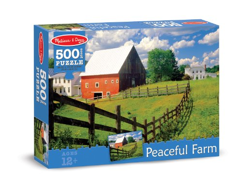 Melissa & Doug Peaceful Farm Cardboard Jigsaw Puzzle, 500-Piece