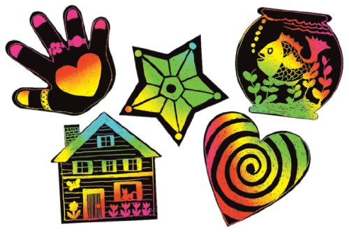 Melissa & Doug Scratch-Art Scratchin' Shapes - Fun Shapes Group Pack