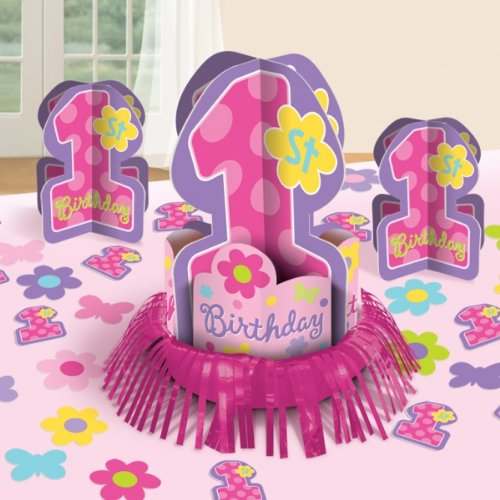 Amscan - One-derful Birthday Girl Table Decorating Kit - Standard