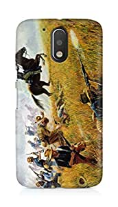 Amez designer printed 3d premium high quality back case cover for Motorola Moto G4 Plus (Painting Battle)