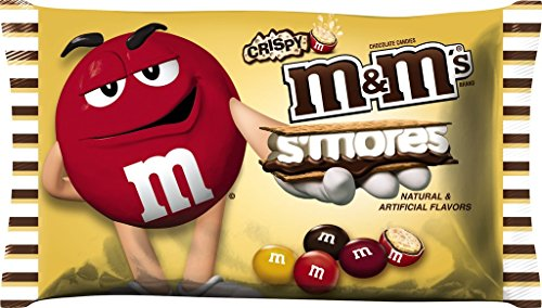 M&M's S'mores Crispy Chocolate Candy Harvest Blend, 8 Ounce Bag