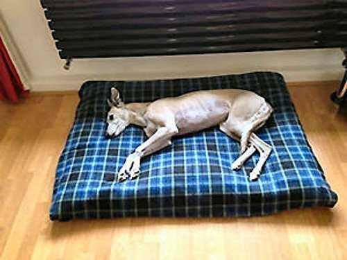 Artikelbild: Kosipet extragroße Ersatzdecke aus Fleece für Hundebett, blaues Karomuster, Haustierbett, Hundebett