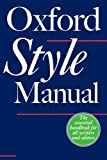 The Oxford Style Manual (0198605641) by Ritter, R. M.