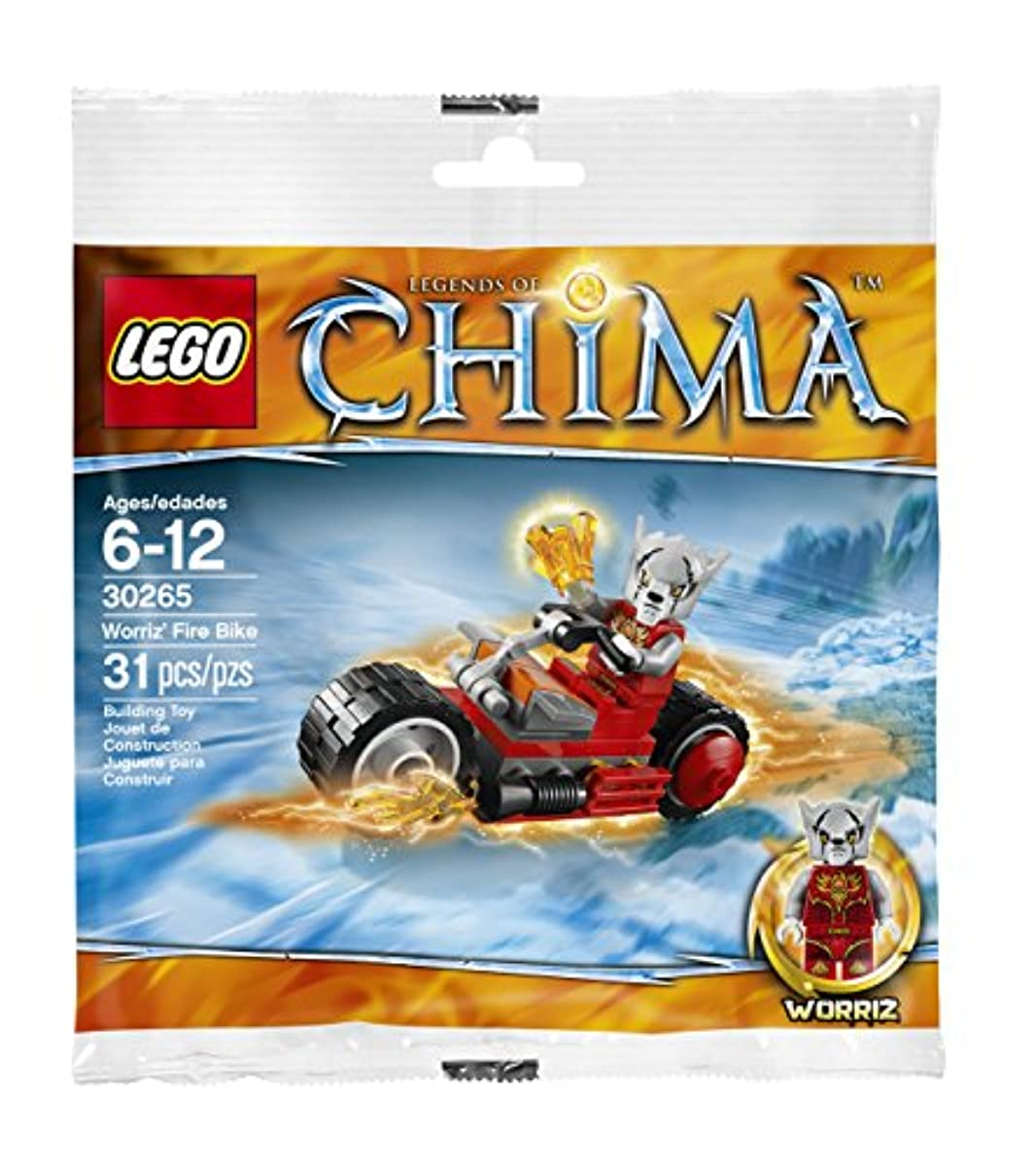 [해외] LEGO LEGENDS OF CHIMA: WORRIZ' 화재 BIKE 세트 30265 (대채우기)